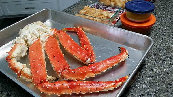 alaska king crab and scallops