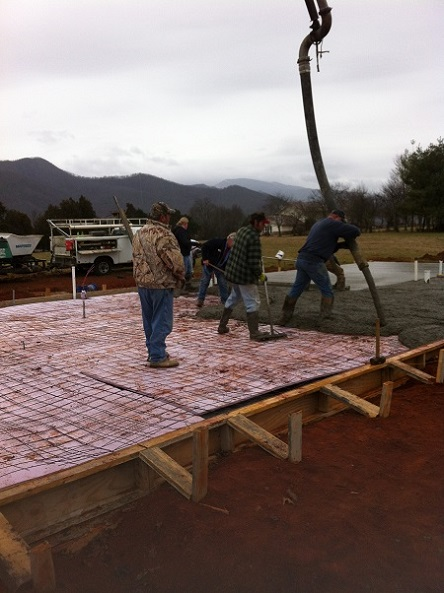 house foundation pour