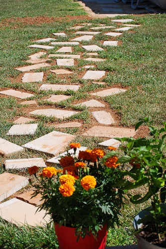 broken stepping stone path