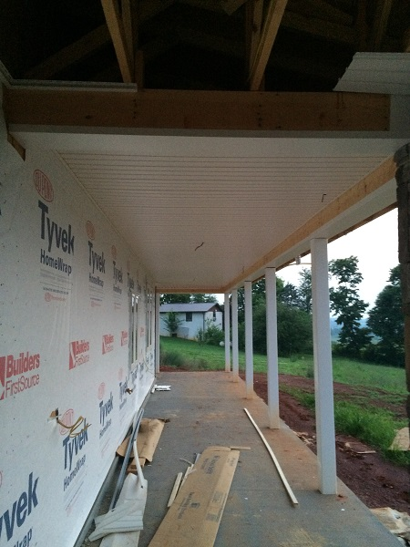 soffit farmhouse porch ceiling